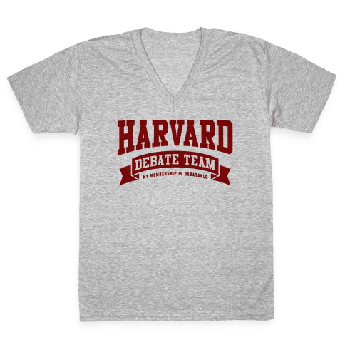 Harvard Debate Team Parody Shirt V-Neck Tee Shirt