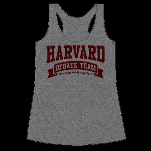 Harvard Debate Team Parody Shirt Racerback Tank Top