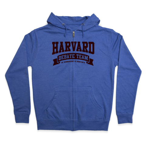 Harvard Debate Team Parody Shirt Zip Hoodie