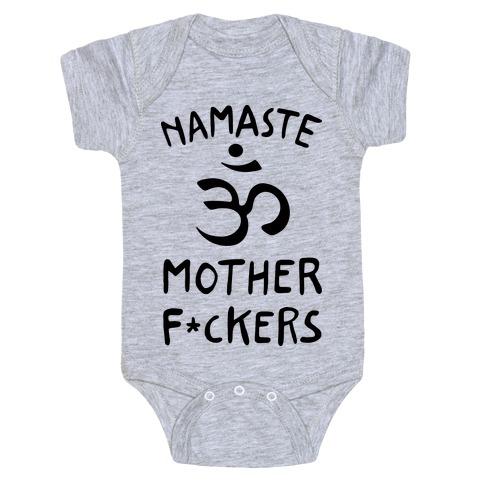 Namaste Mother F***ers Baby Onesy