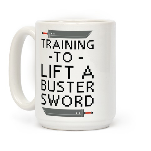 Training to Lift a Buster Sword Coffee Mug