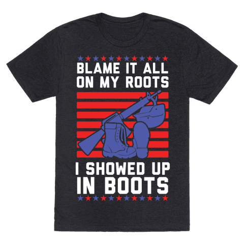 Blame It All On My Roots Military Mens T-Shirt