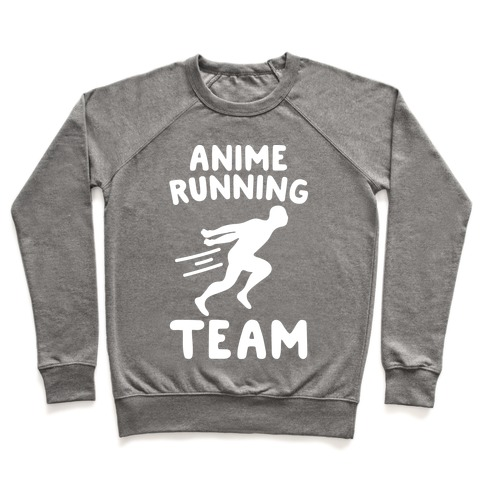 Anime Running Team White Print Pullover