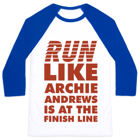 Run like Archie is at the Finish Line Baseball Tee