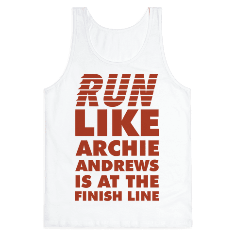 Run like Archie is at the Finish Line Tank Top