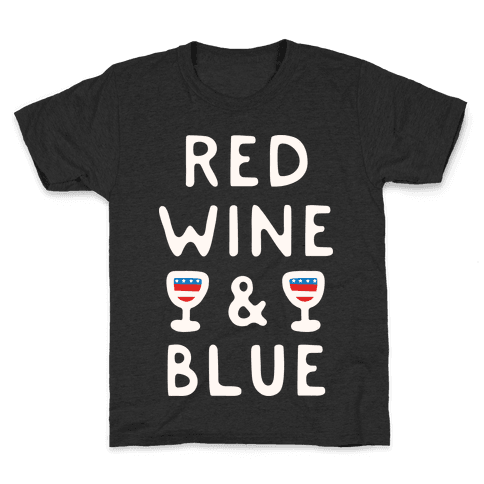 Red Wine And Blue Kids T-Shirt