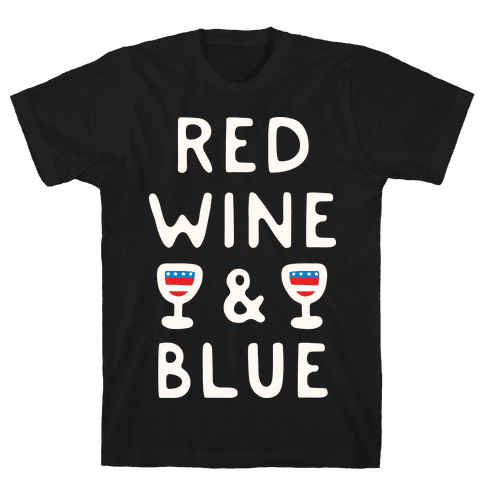 Red Wine And Blue Mens/Unisex T-Shirt