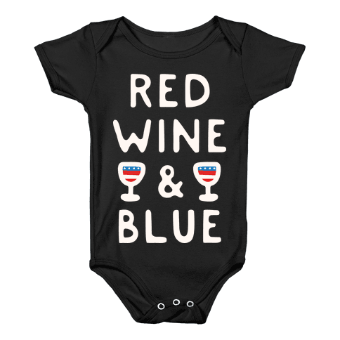 Red Wine And Blue Baby Onesy
