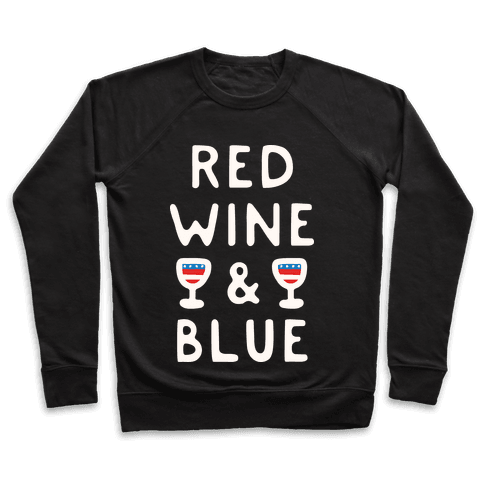 Red Wine And Blue Pullover