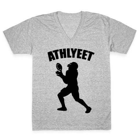 Athlyeet Football V-Neck Tee Shirt