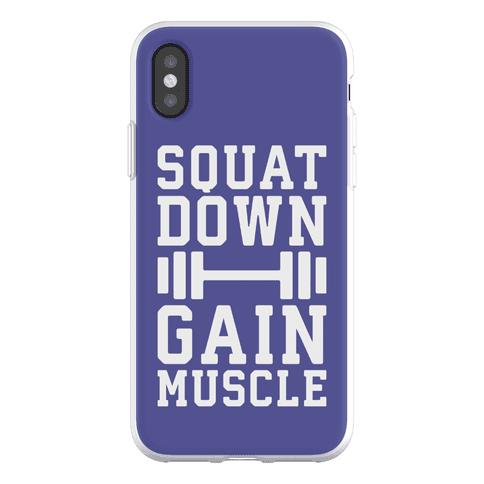 Squat Down Gain Muscle Phone Flexi-Case