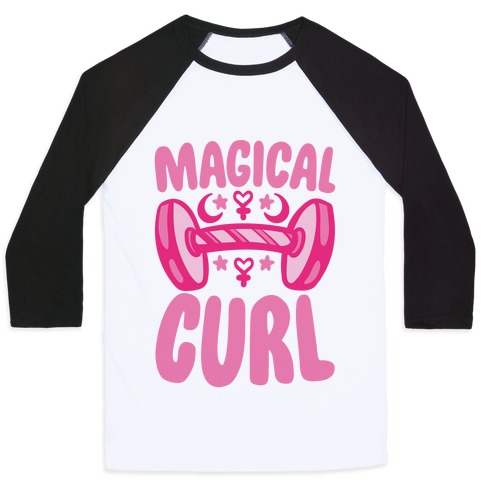 Magical Curl Parody Baseball Tee