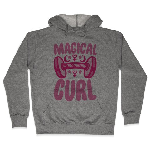Magical Curl Parody Hooded Sweatshirt