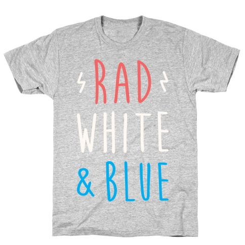 Rad White & Blue Mens T-Shirt