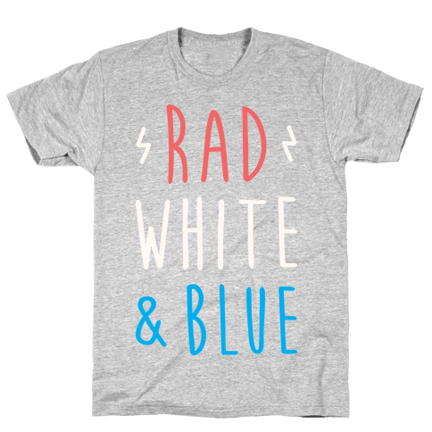 Rad White & Blue Mens/Unisex T-Shirt