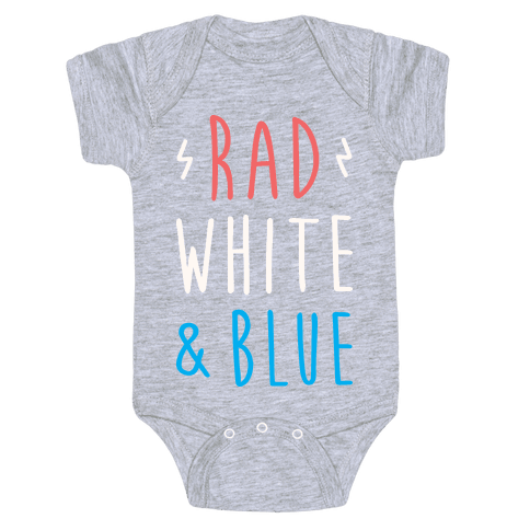 Rad White & Blue Baby Onesy