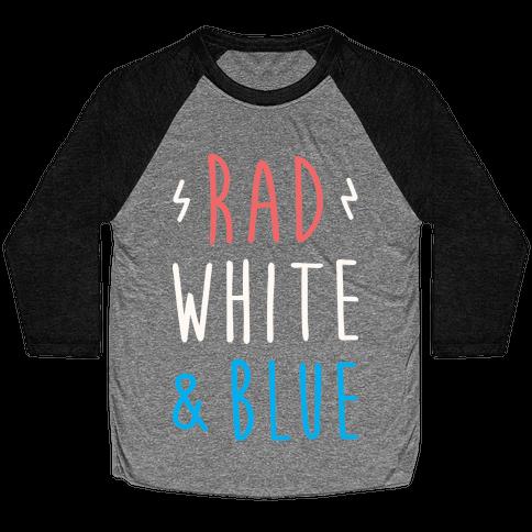 Rad White & Blue Baseball Tee