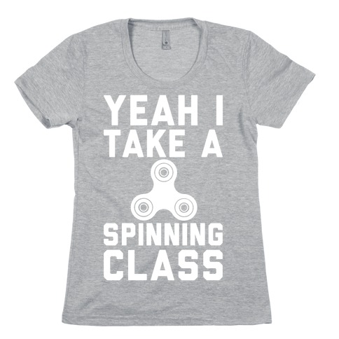 Yeah I Take A Spinning Class White Print Womens T-Shirt