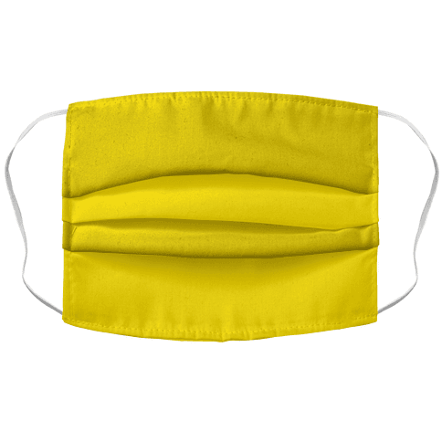 Bright Yellow Face Mask Cover