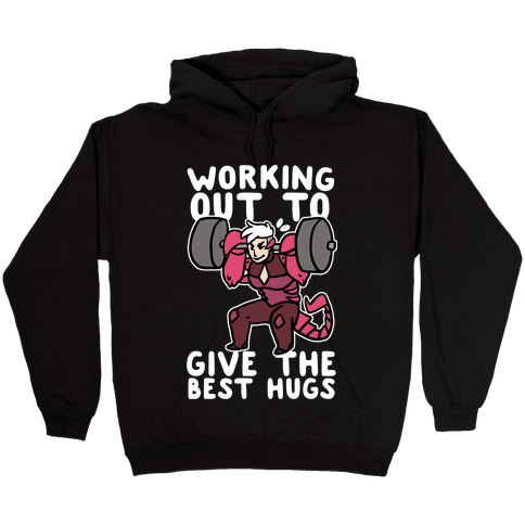 Working Out to Give the Best Hugs - Scorpia Hooded Sweatshirt