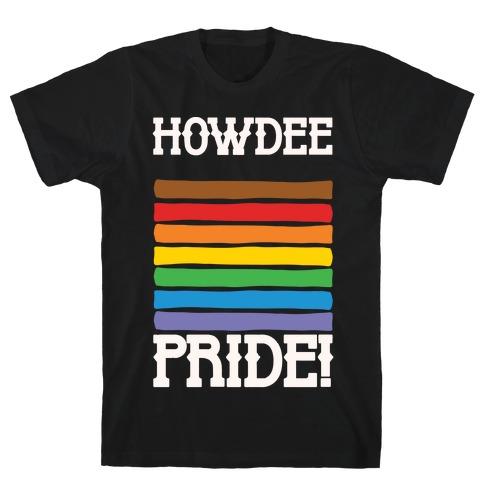 Howdee Pride White Print T-Shirt