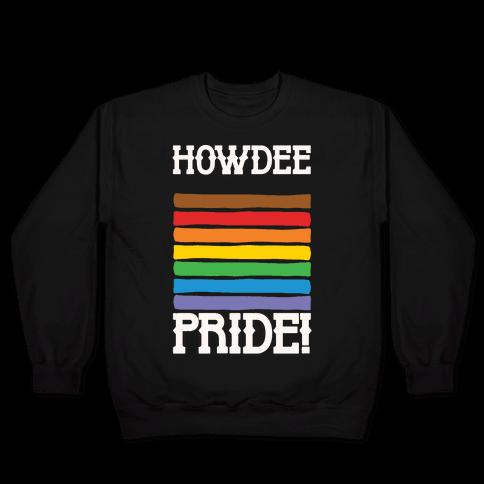 Howdee Pride White Print Pullover