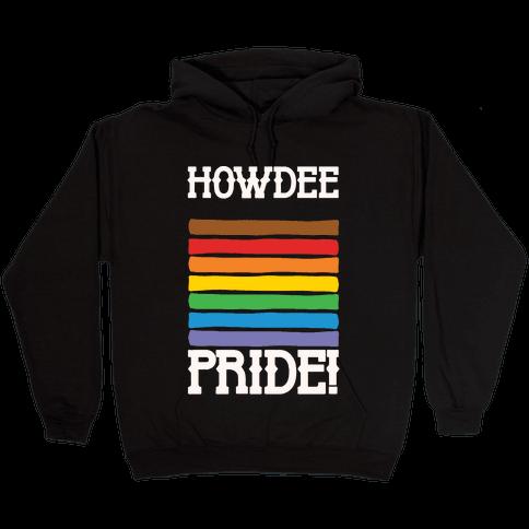 Howdee Pride White Print Hooded Sweatshirt