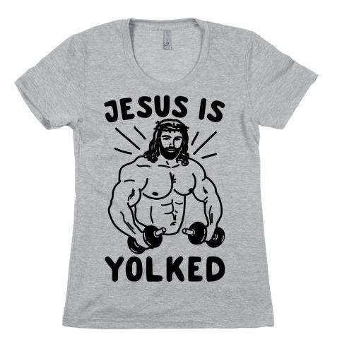 Jesus Is Yolked Womens T-Shirt