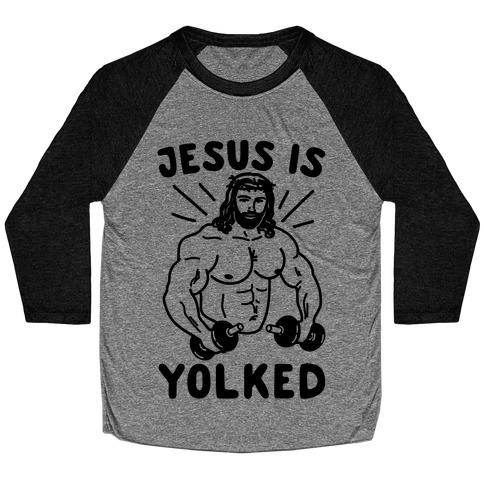 Jesus Is Yolked Baseball Tee