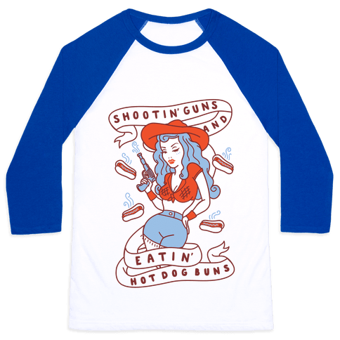 Buns And Guns Baseball Tee