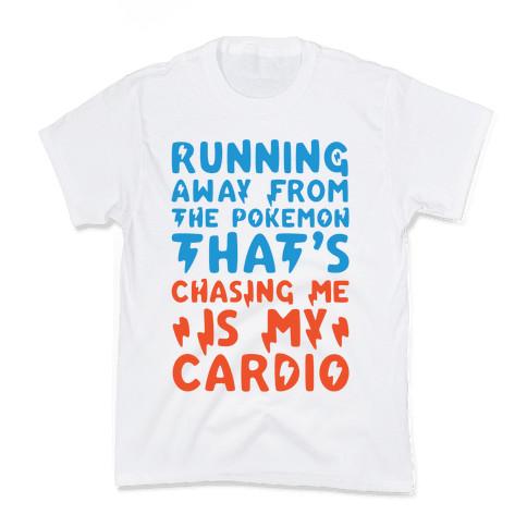Running Away From The Pokemon That's Chasing Me Parody Kids T-Shirt
