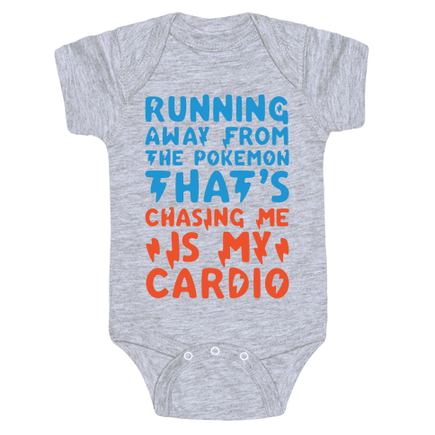 Running Away From The Pokemon That's Chasing Me Parody Baby Onesy