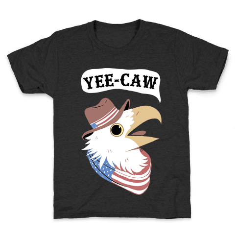 YEE-CAW American Bald Eagle Kids T-Shirt