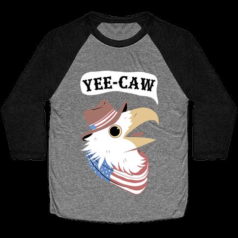 YEE-CAW American Bald Eagle Baseball Tee