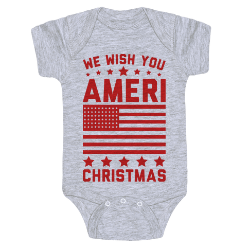 We Wish You AmeriChristmas Baby Onesy