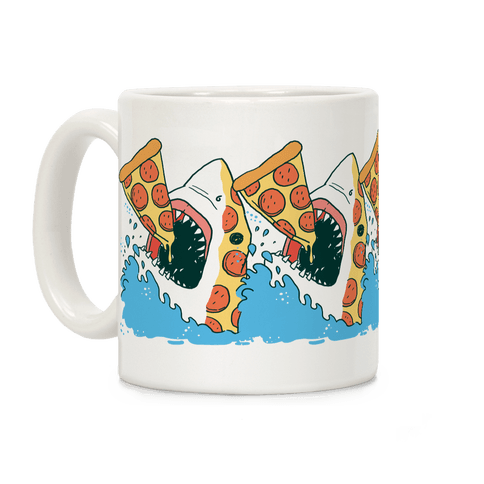 Pizza Shark Coffee Mug