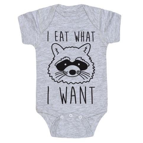 I Eat What I Want Baby Onesy
