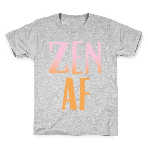 Zen Af White Print Kids T-Shirt