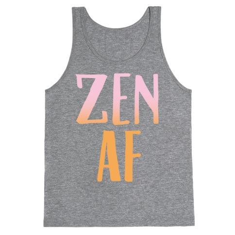 Zen Af White Print Tank Top