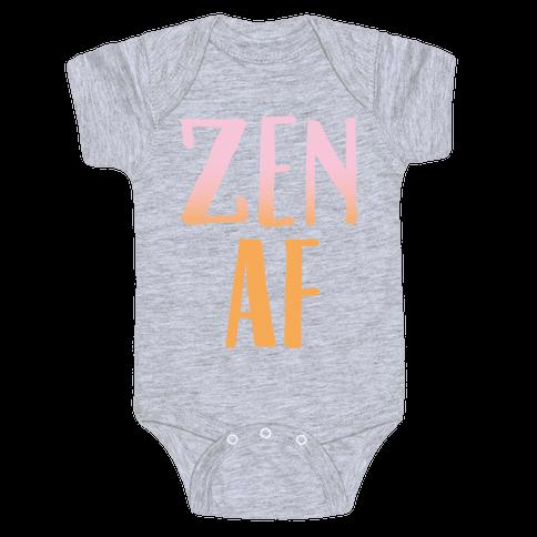 Zen Af White Print Baby Onesy
