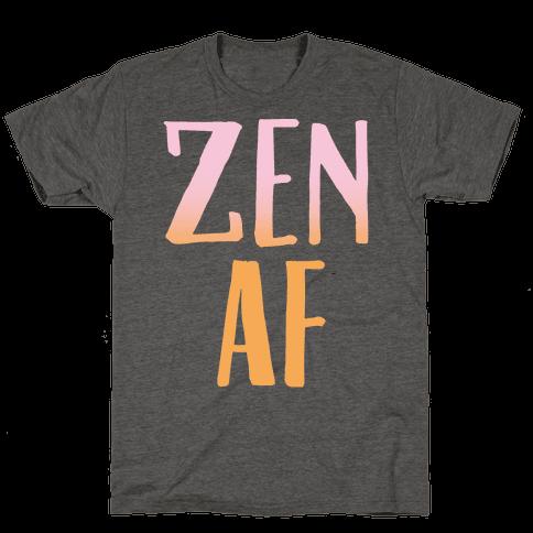 Zen Af White Print