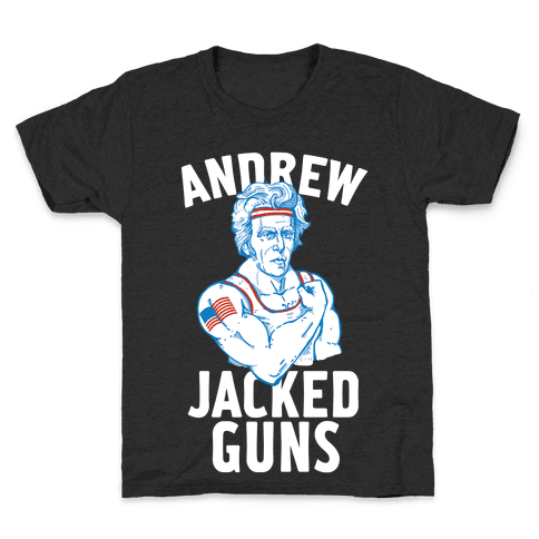 Andrew Jacked-Guns Kids T-Shirt