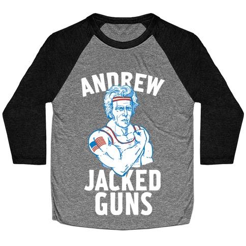 Andrew Jacked-Guns Baseball Tee