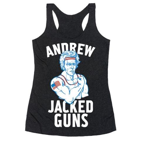 Andrew Jacked-Guns Racerback Tank Top