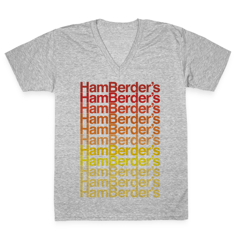 Hamberder's Parody V-Neck Tee Shirt