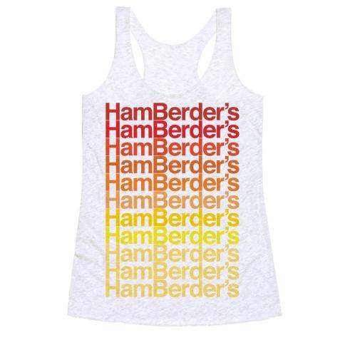 Hamberder's Parody Racerback Tank Top