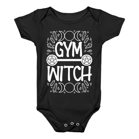 Gym Witch Baby Onesy