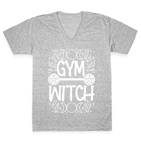 Gym Witch V-Neck Tee Shirt