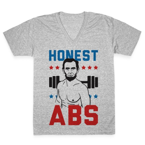 Honest Abs V-Neck Tee Shirt