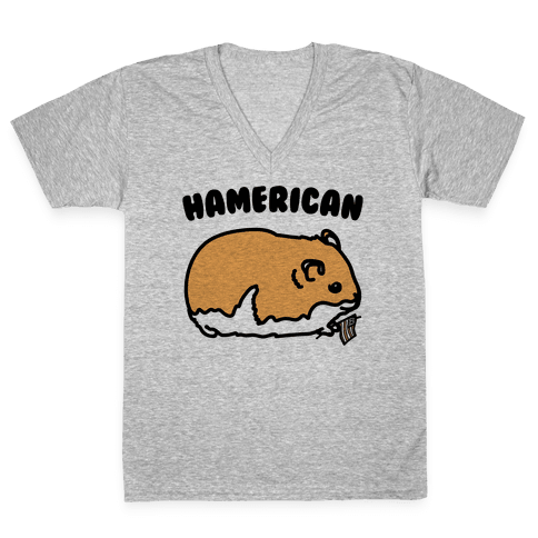 Hamerican Parody V-Neck Tee Shirt